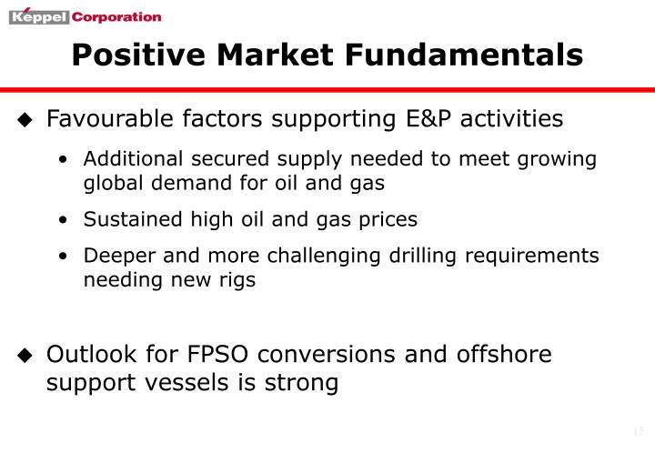 Positive Market Fundamentals