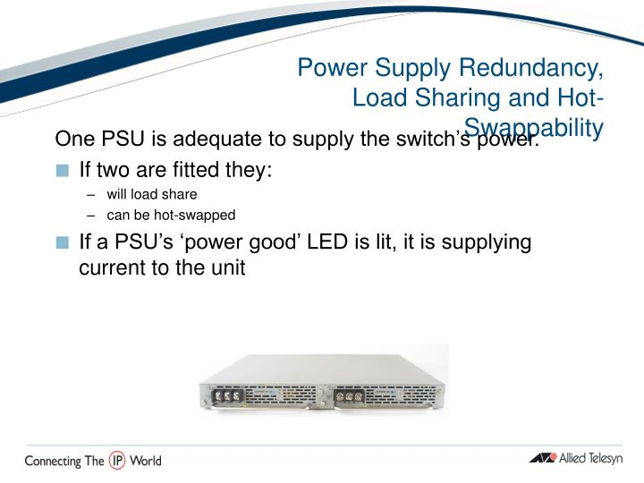 Power Supply Redundancy, Load Sharing and Hot-Swappability
