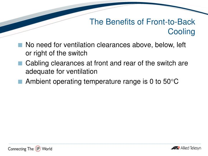 The Benefits of Front-to-Back Cooling