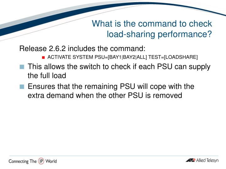 What is the command to check load-sharing performance?