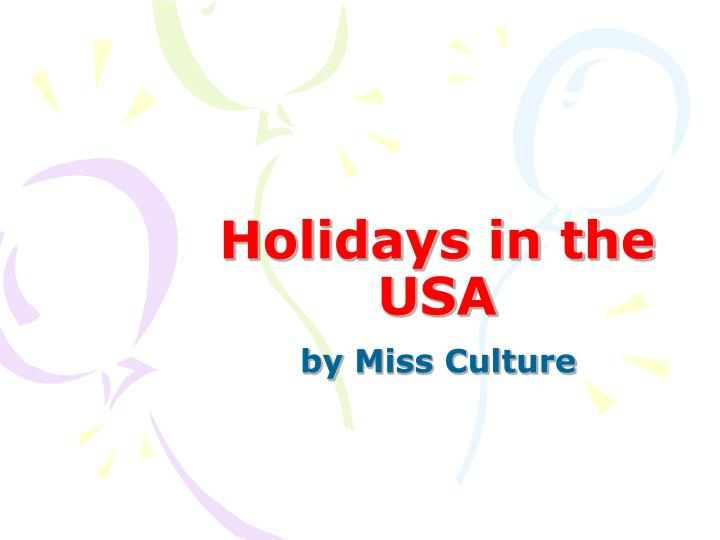 holidays in the usa n.