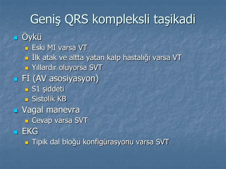 Geniş QRS kompleksli taşikadi