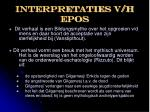 interpretaties v h epos
