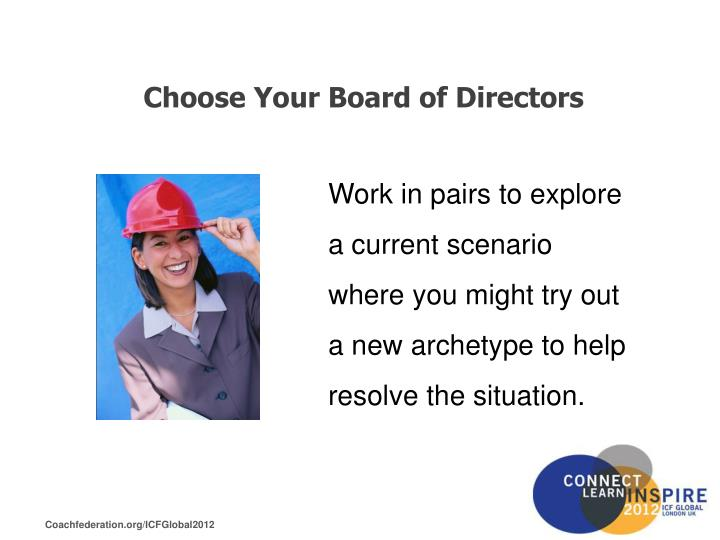 Choose Your Board of Directors