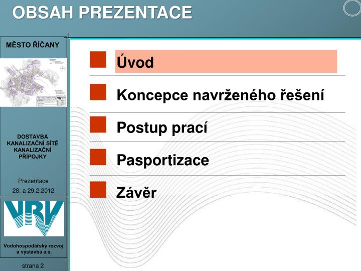 OBSAH PREZENTACE