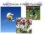 sport exercise health psychology
