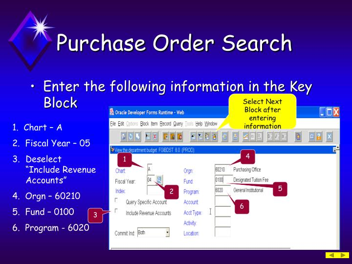 Purchase Order Search