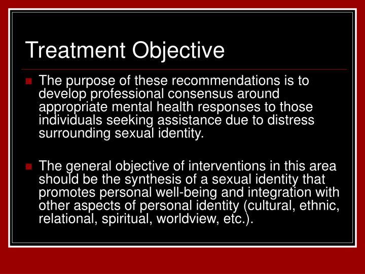 Treatment Objective
