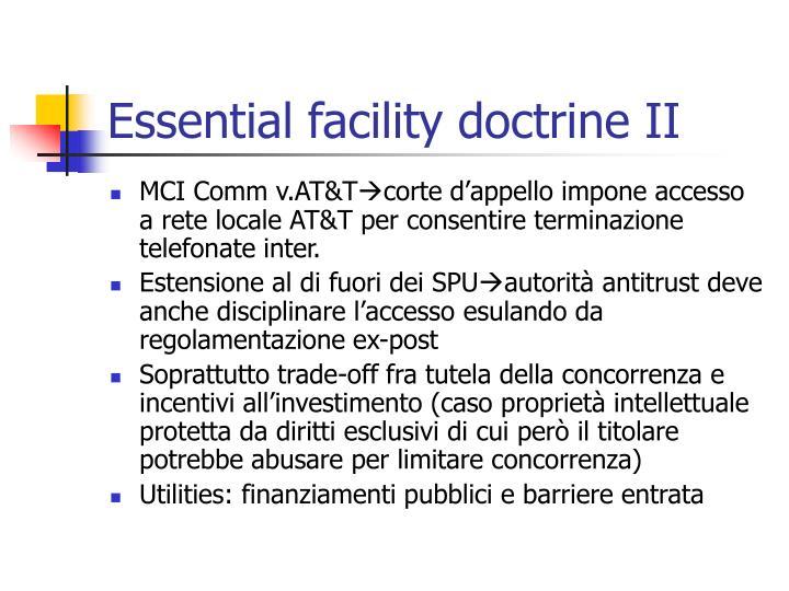 Essential facility doctrine II