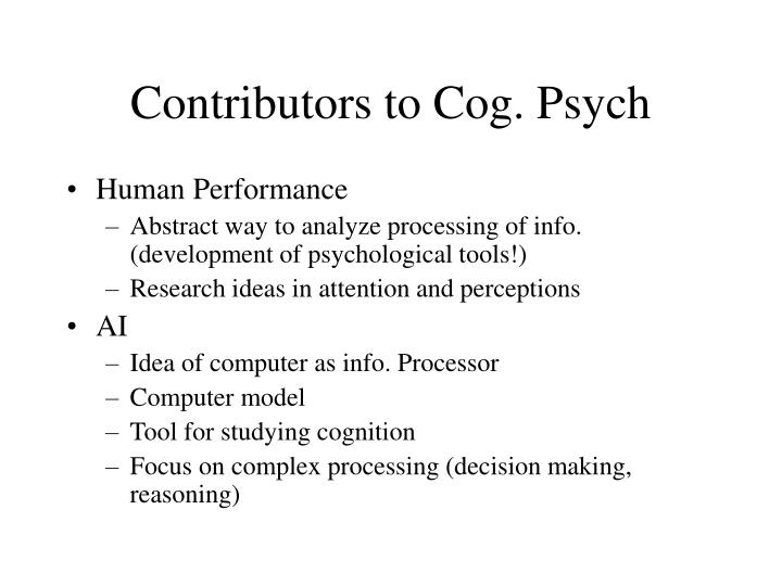 cog psych How can the answer be improved.
