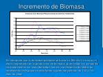 incremento de biomasa