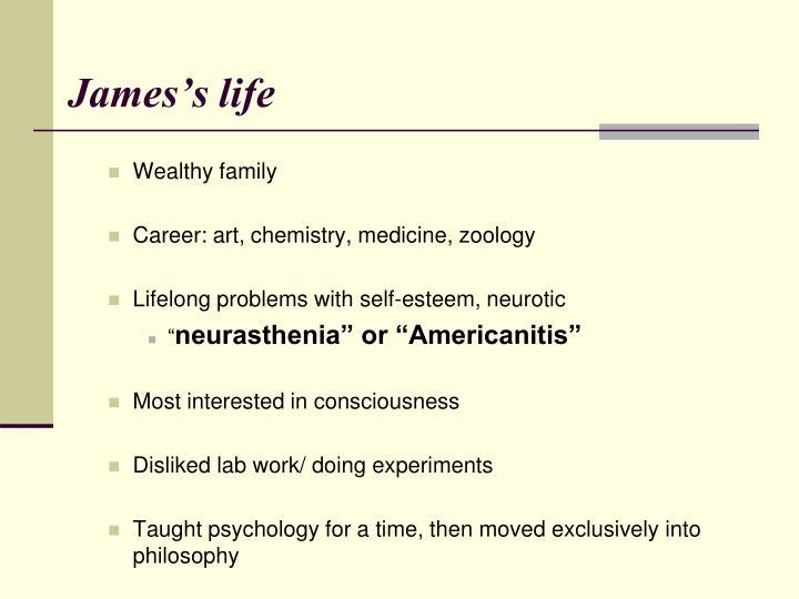 James s life