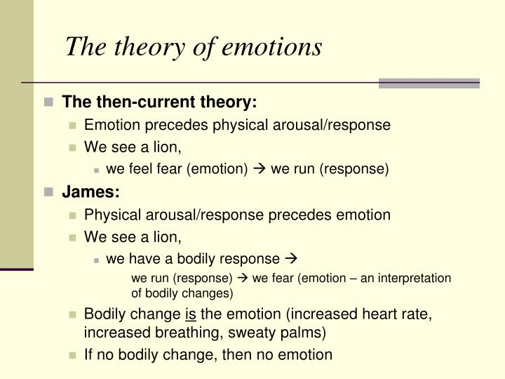 The theory of emotions