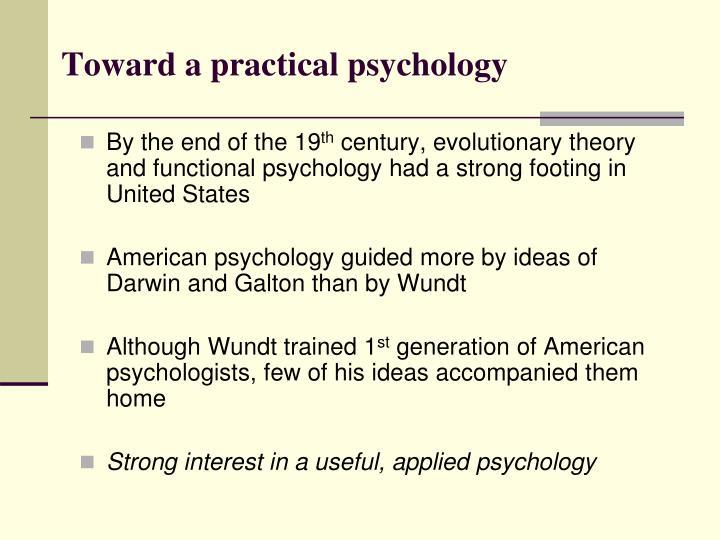 Toward a practical psychology