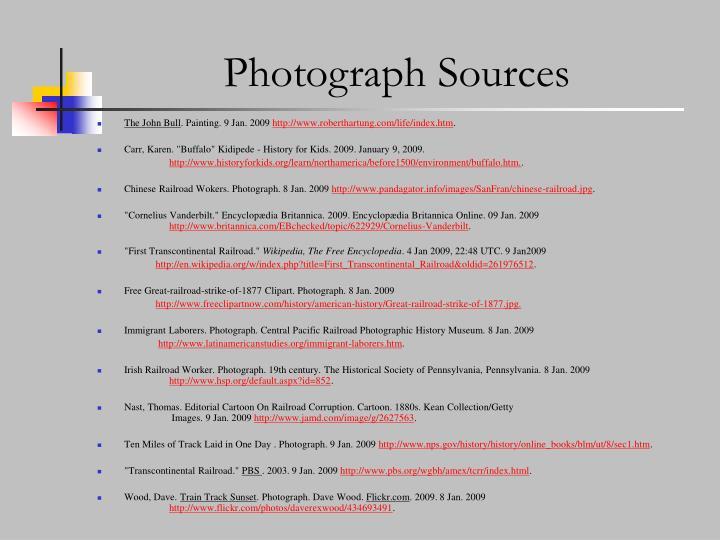 Photograph Sources