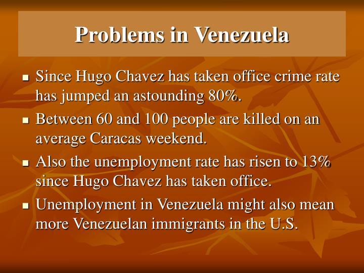 Problems in Venezuela