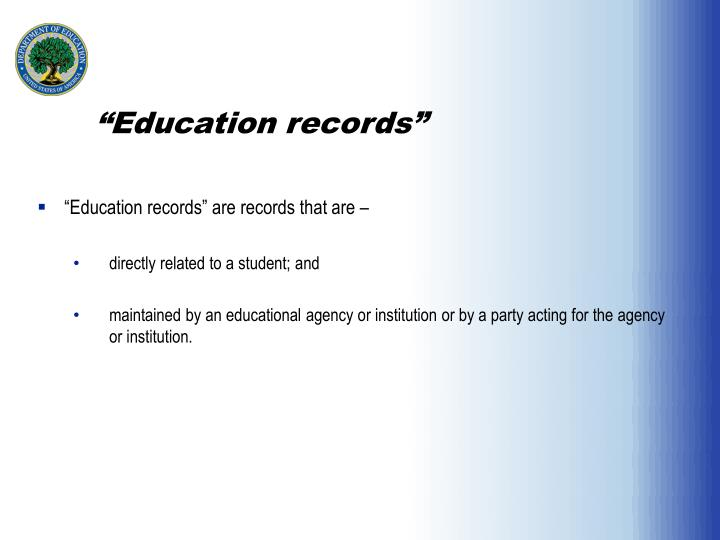"""Education records"""