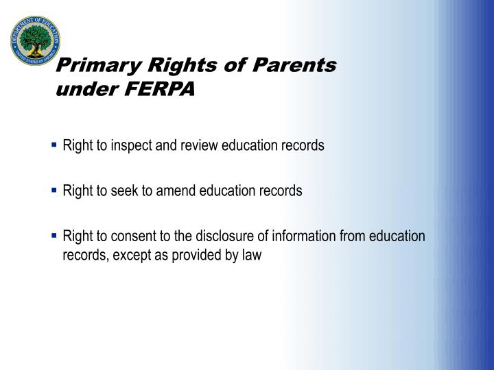 Primary Rights of Parents