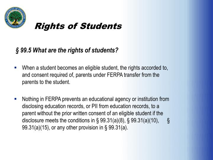 Rights of Students