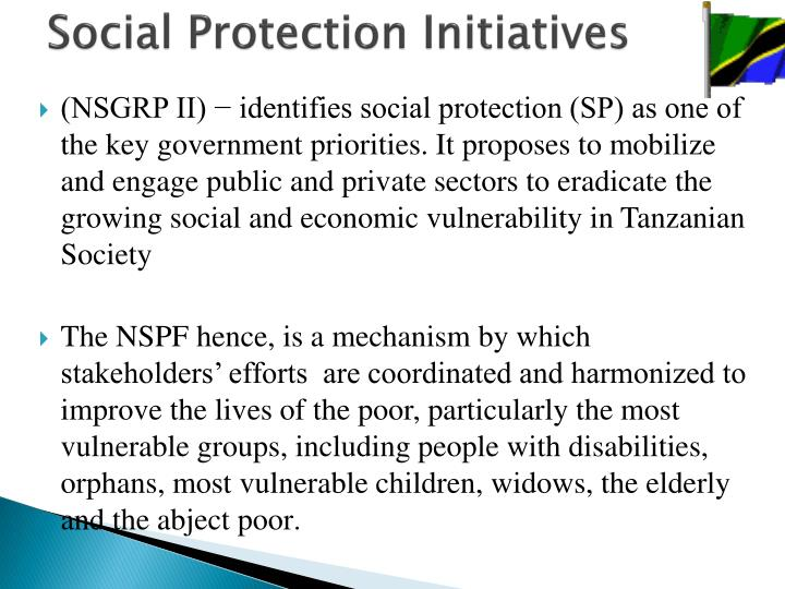 Social protection initiatives