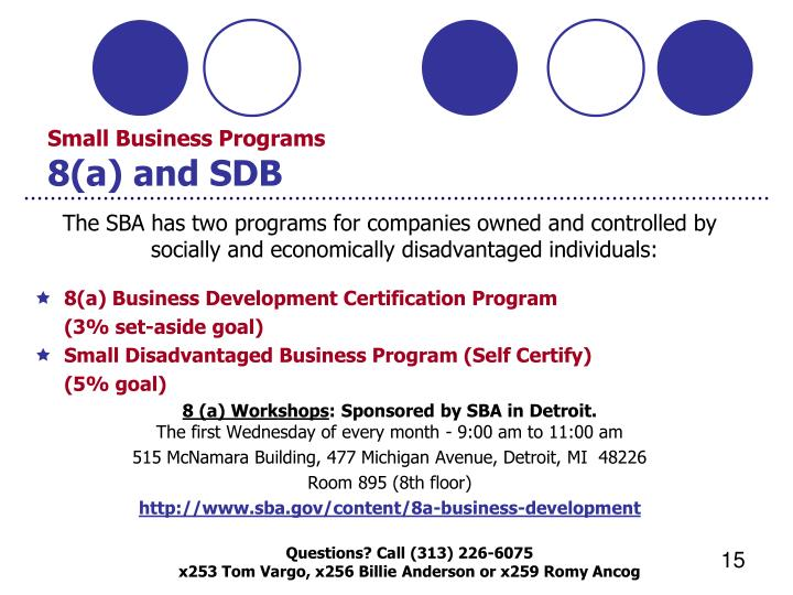 Ppt procurement technical assistance center government for Sdb business