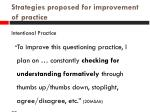 strategies proposed for improvement of practice3