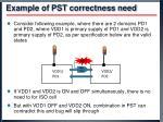 example of pst correctness need