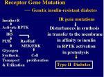 receptor gene mutation genetic insulin resistant diabetes