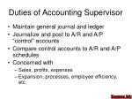 duties of accounting supervisor