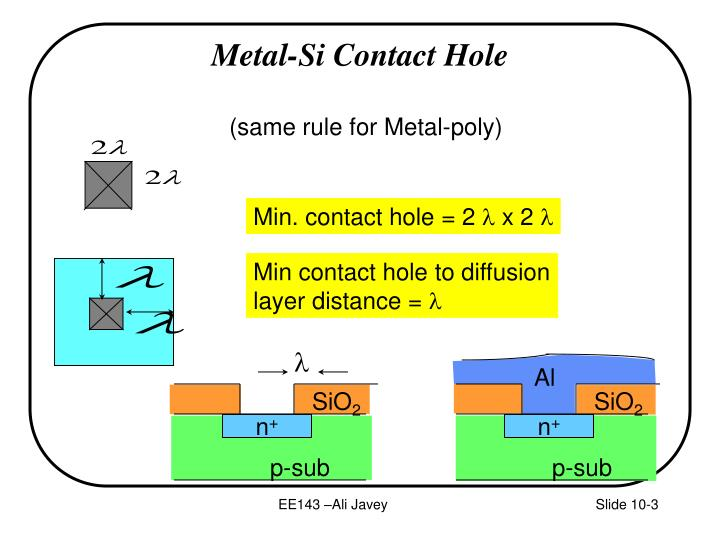 Metal si contact hole