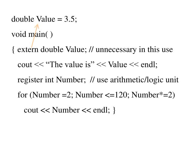 double Value = 3.5;
