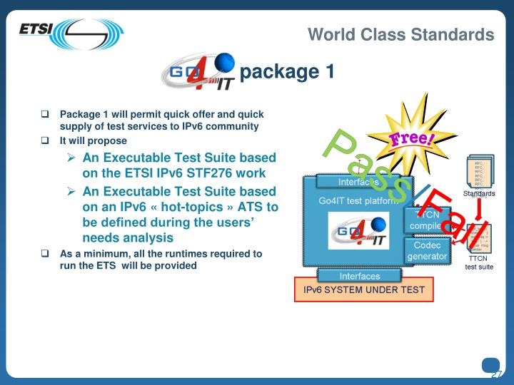 Go4IT package 1