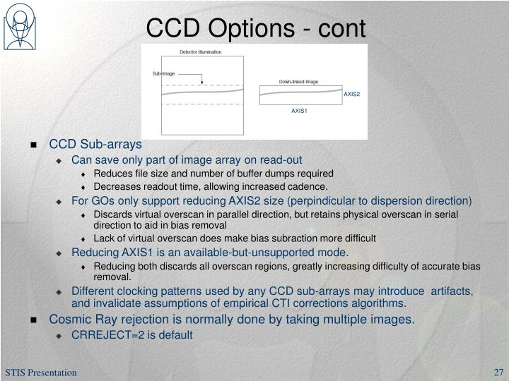 CCD Options - cont
