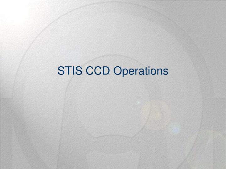 STIS CCD Operations