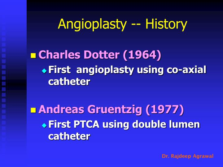 Angioplasty -- History