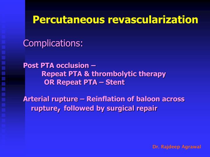 Percutaneous revascularization