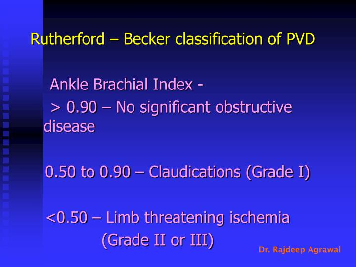 Rutherford – Becker classification of PVD