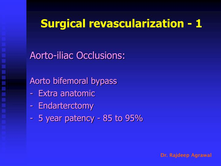 Surgical revascularization - 1