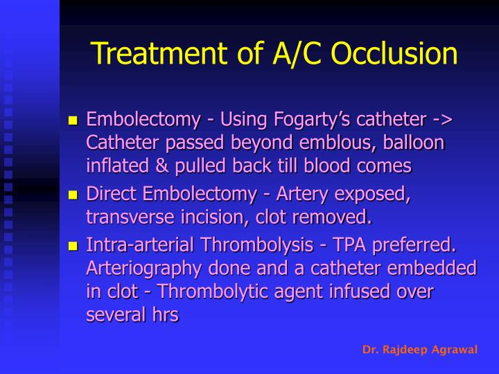 Treatment of A/C Occlusion