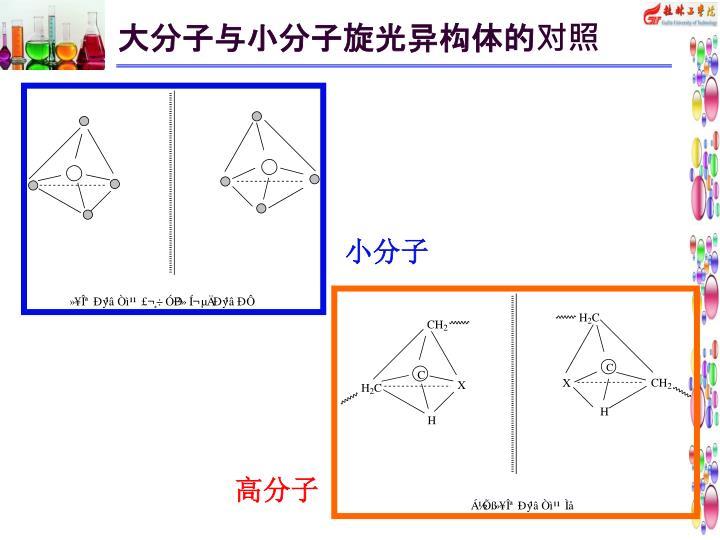 大分子与小分子旋光异构体的对照