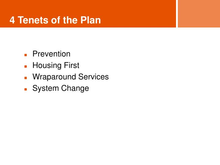 4 Tenets of the Plan