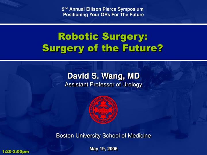 robotic surgery surgery of the future n.