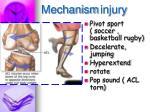 mechanism injury