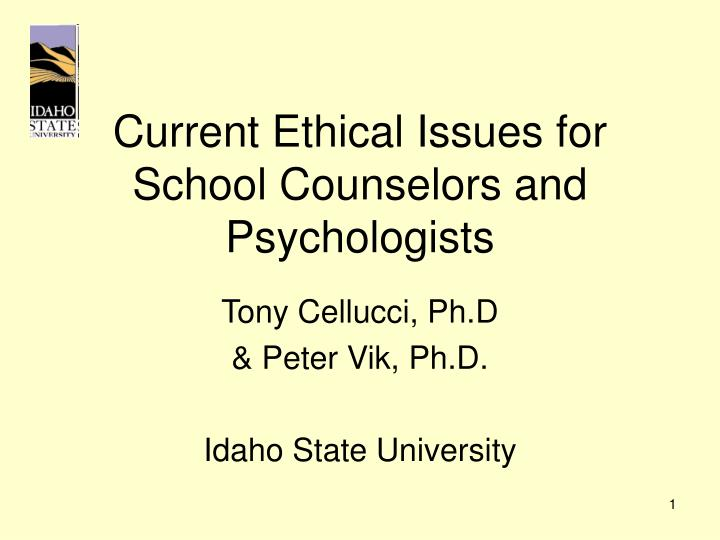 ethical issues in psychology and counseling