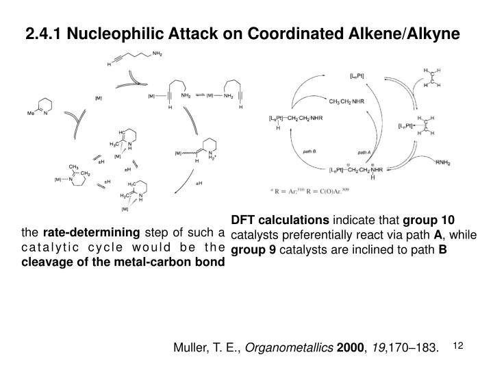 2.4.1 Nucleophilic Attack on Coordinated Alkene/Alkyne