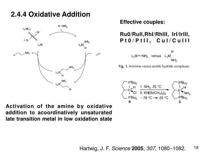 2.4.4 Oxidative Addition