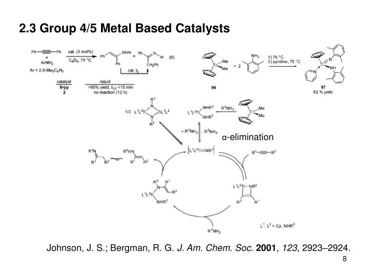 2.3 Group 4/5 Metal Based Catalysts