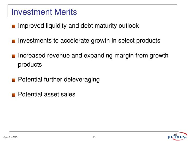 Investment Merits