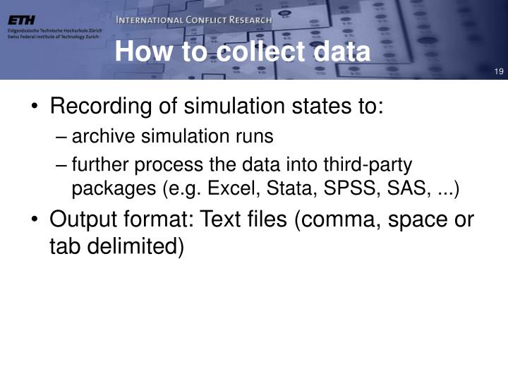 How to collect data