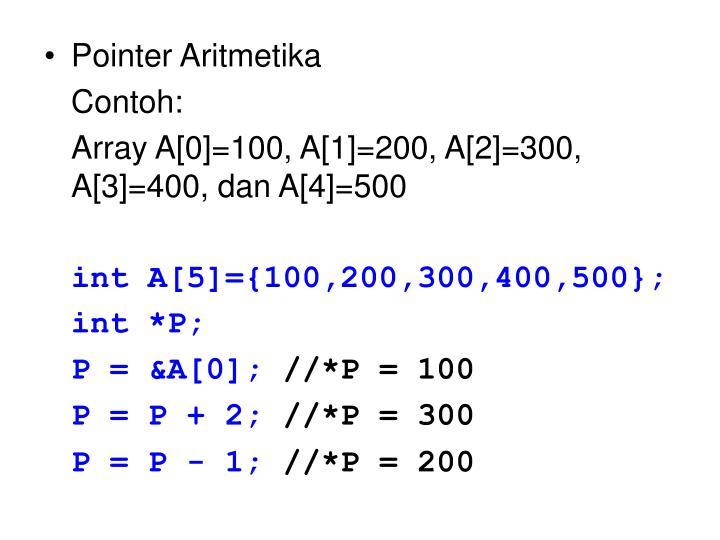 Pointer Aritmetika
